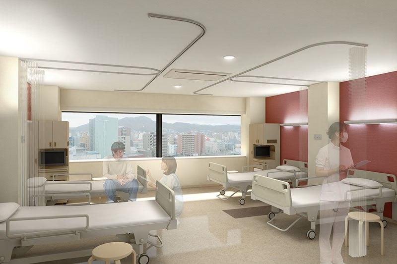 病室内観CG