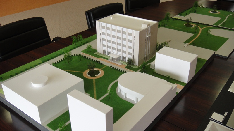 大学敷地計画模型