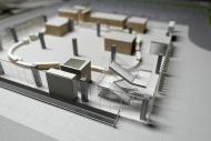 新役場庁舎模型