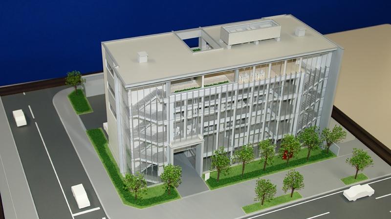 商業ビル模型