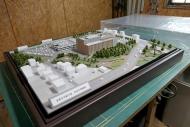 岩見沢市新庁舎模型