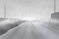 吹雪による視程障害VR